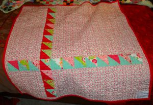 Pieced back of baby quilt