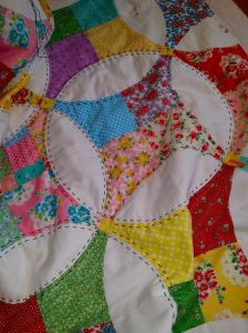 Flowering snowball top quilting 1