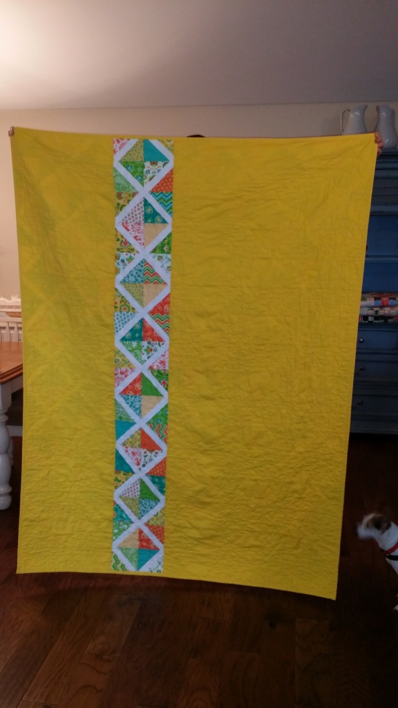 Lattice quilt back